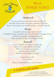 Hotel Ristorante Macerata Menu di Pasqua